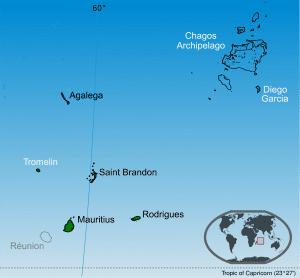 map of Rep of Mauritius
